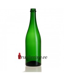 Šampanjapudel 75cl roheline, ilma korgita
